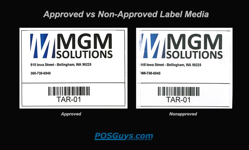 TM-C3500 Label Media Comparison