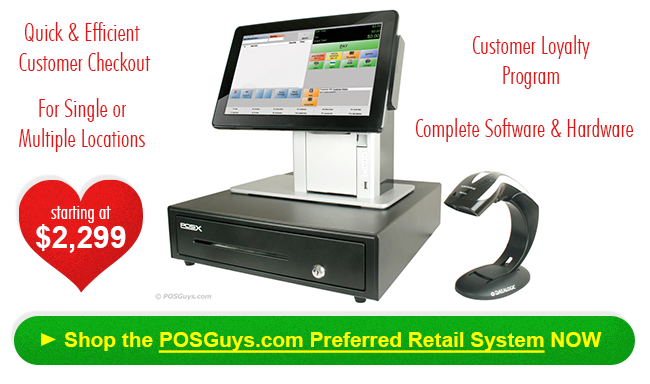 POSGuys Preferred Retail POS System includes everything you need to run one or more retail stores.