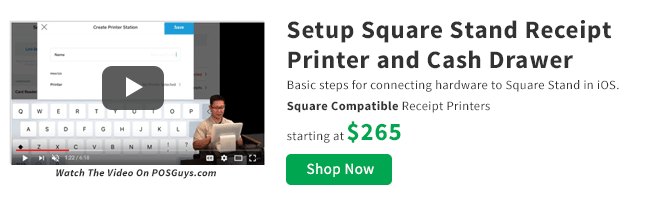 Setup Square Stand Receipt Printer and Cash Drawer Video