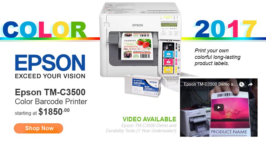 Epson TM-C3500 Inkjet Barcode Printer