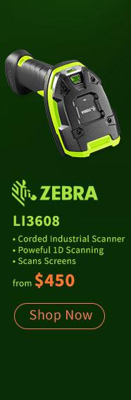 Zebra LI3608 1D Scanner