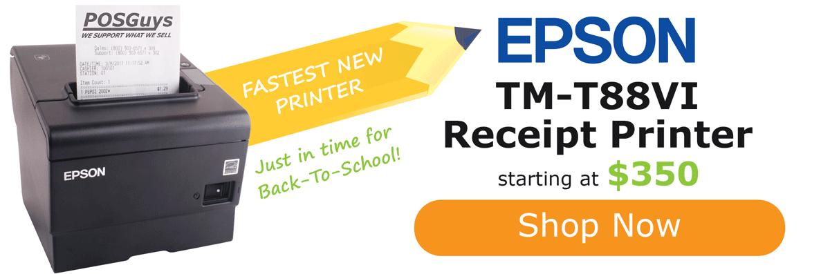 Shop the newest Epson TM-T88VI receipt printer.