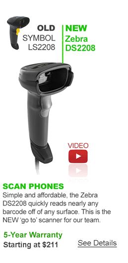 Zebra DS2208 Barcode Scanner